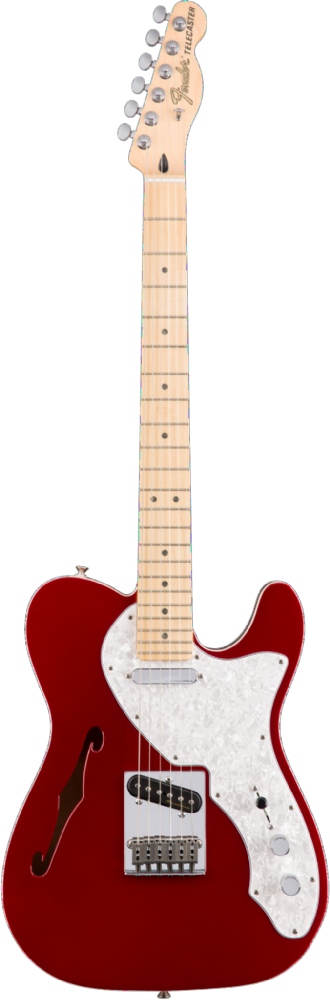 Fender Deluxe Telecaster Thinline Maple Candy Apple Red